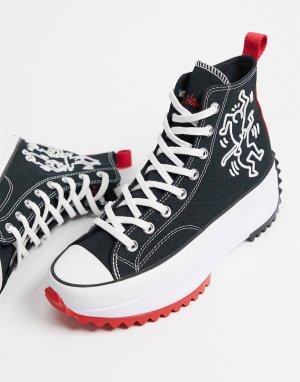 Черные кроссовки X Keith Haring Run Star Hike-Черный цвет Converse