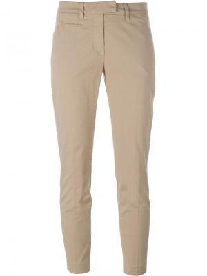Укороченные брюки-чинос Dondup. Цвет: телесный