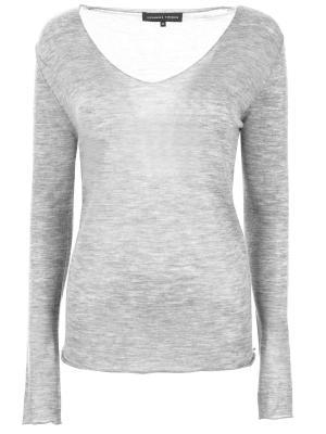 Тонкий пуловер из кашемира Alexander Terekhov. Цвет: серый