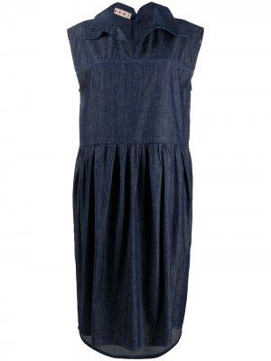 Джинсовое платье Marni. Цвет: синий