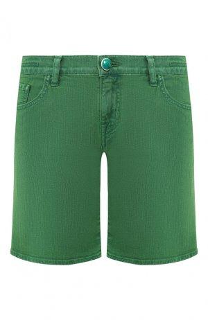 Джинсовые шорты Jacob Cohen. Цвет: зеленый