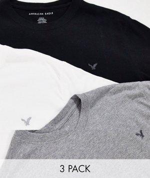 Набор из 3 футболок с круглым вырезом -Мульти American Eagle