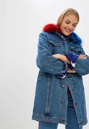 Куртка джинсовая Forte Dei Marmi Couture FO022EWCHUG1. Цвет: синий