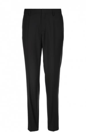 Классические шерстяные брюки BOSS. Цвет: темно-синий