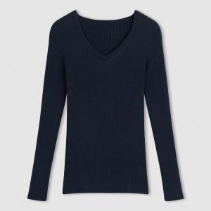 Пуловер с V-образным вырезом La Redoute Collections. Цвет: слоновая кость