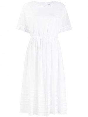 Платье-туника с полосками Peserico. Цвет: белый