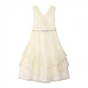 Хлопковое платье Aletta. Цвет: бежевый