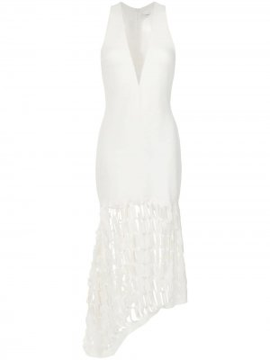 Cut out details gown Gloria Coelho. Цвет: белый