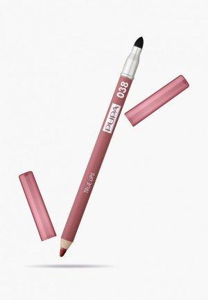 Карандаш для губ Pupa TRUE LIPS т.038 розовый нюд , 1.2 г.. Цвет: розовый