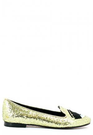 Лоферы CHIARA FERRAGNI. Цвет: желтый