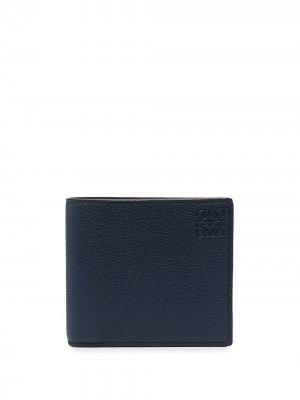 Бумажник с тиснением Anagram LOEWE. Цвет: синий