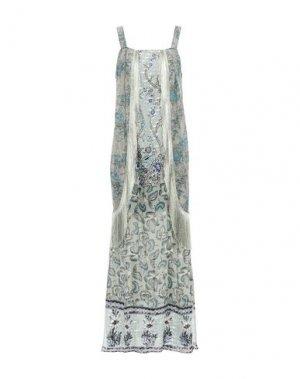Длинное платье ANNA SUI. Цвет: цвет морской волны