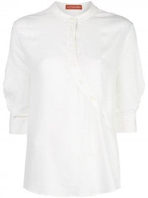 Рубашка Kumi асимметричного кроя Altuzarra. Цвет: белый