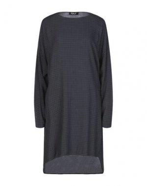 Короткое платье MAMA B.. Цвет: свинцово-серый