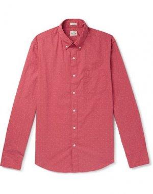 Pубашка J.CREW. Цвет: кирпично-красный