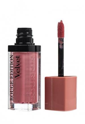 Помада Bourjois Rouge Edition Velvet, 10 Don't Pink Of It!, 7,7 мл. Цвет: розовый