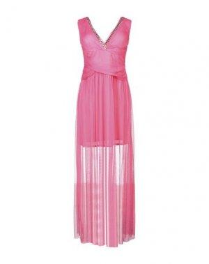 Длинное платье X'S MILANO. Цвет: коралловый