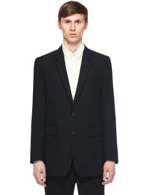 Костюмный пиджак из шерсти AMI. Цвет: черный