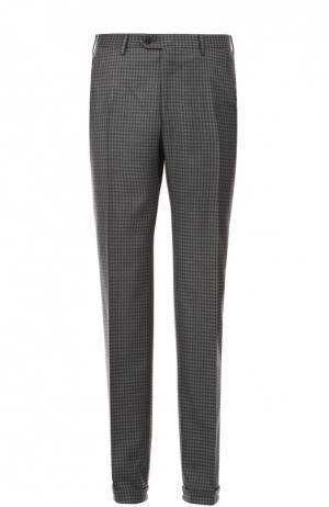 Шерстяные брюки Brioni. Цвет: серый