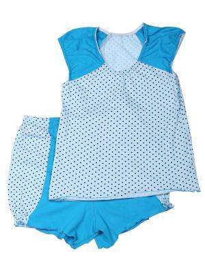 Пижама Flip. Цвет: голубой