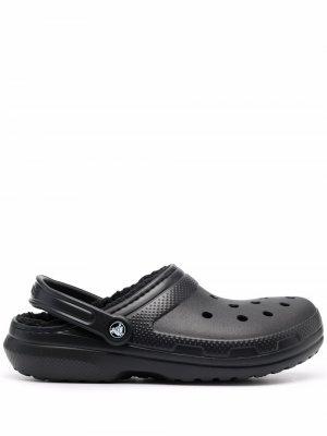 Кроксы с подкладкой Crocs. Цвет: черный