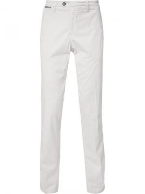 Классические брюки прямого кроя Eleventy. Цвет: бежевый