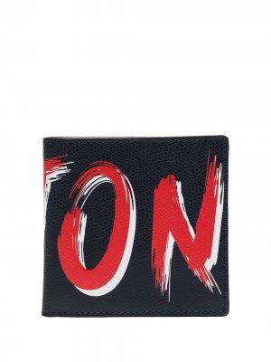 Бумажник с логотипом Kiton. Цвет: синий