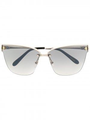 Солнцезащитные очки в оправе кошачий глаз Chopard Eyewear. Цвет: серебристый