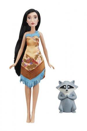 Кукла Покахонтас с питомцем Disney Princess. Цвет: мультицвет, коричневый