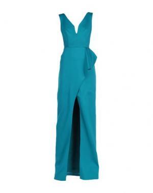 Длинное платье BLACK HALO EVE by LAUREL BERMAN. Цвет: цвет морской волны