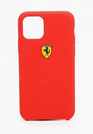 Чехол для iPhone Ferrari 11 Pro, On-Track Silicone case Red. Цвет: красный