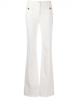 Расклешенные джинсы с завышенной талией Elisabetta Franchi. Цвет: белый
