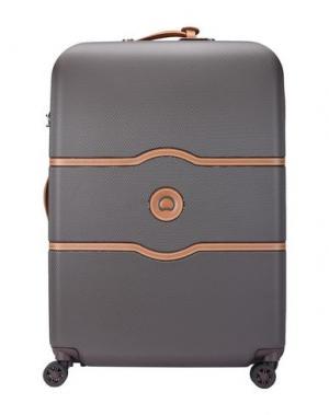 Чемодан/сумка на колесиках DELSEY. Цвет: какао