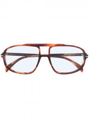 Солнцезащитные очки-авиаторы DB 1000/s Eyewear by David Beckham. Цвет: коричневый