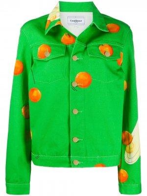 Джинсовая куртка Les Oranges Casablanca. Цвет: зеленый