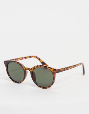 Круглые солнцезащитные очки -Коричневый цвет New Look