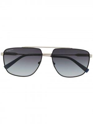 Солнцезащитные очки-авиаторы SF239S Salvatore Ferragamo. Цвет: черный