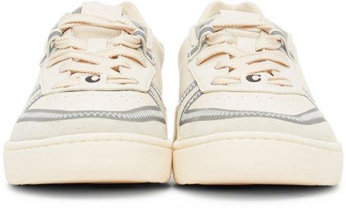 Off-White Citysole Court Sneakers Coach 1941. Цвет: chalk