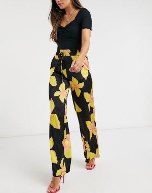 Черные широкие брюки -Многоцветный Forever U