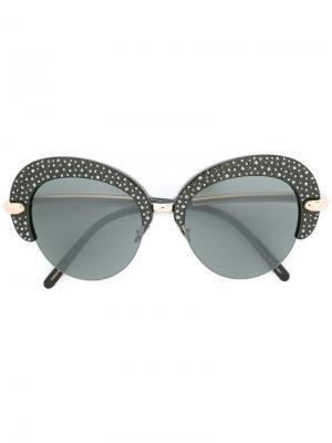 Объемные солнцезащитные очки Pomellato. Цвет: чёрный
