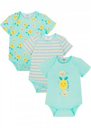 Боди для малыша (3 шт.) bonprix. Цвет: зеленый