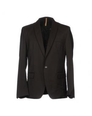 Пиджак LOW BRAND. Цвет: темно-коричневый