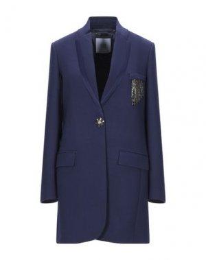 Пальто VDP COLLECTION. Цвет: синий