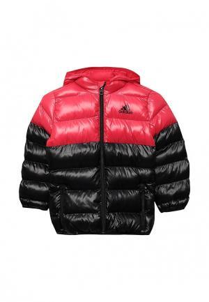 Куртка утепленная adidas YG SD BTS JKT. Цвет: розовый