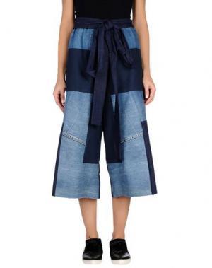 Джинсовые брюки-капри COLLECTION PRIVĒE?. Цвет: синий