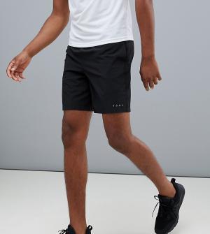 Черные спортивные шорты средней длины из быстросохнущей ткани Tall ASOS 4505