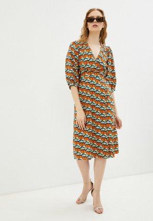 Платье Compania Fantastica. Цвет: разноцветный