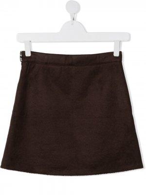 Caffe Dorzo юбка мини с подкладкой из шерпы Caffe' D'orzo. Цвет: коричневый