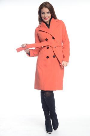 Пальто Ines Collezione. Цвет: оранжевый