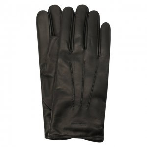 Кожаные перчатки с кашемировой подкладкой Giorgio Armani. Цвет: чёрный